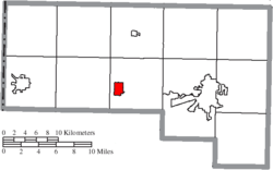 Location of Sherwood in Defiance County