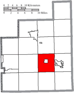 Location of Burton Township in Geauga County
