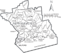 Map of New Haven County Connecticut With Municipal Labels.PNG