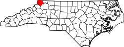Map of North Carolina highlighting Ashe County.svg
