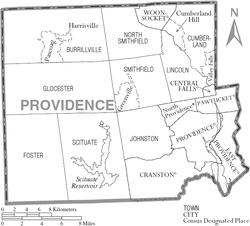 Providence County Rhode Island Wikipedia - Rhode island county map