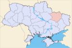 Oblast di Kharkiv - Mappa di localizzazione