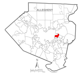 Map of Wilkinsburg, Allegheny County, Pennsylvania Highlighted.png