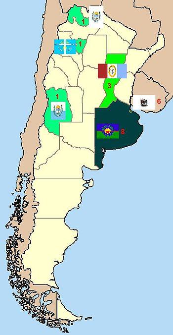 Mapa primera A 2008-9 por provincia