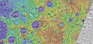 Helmholtz (Martian crater) - Image: Maparkhangelsky