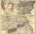 Maps showing the Atlantic & Pacific Railroad and leased lines. LOC 98688585.tif