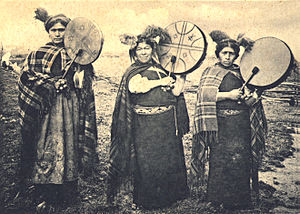 Music of Chile - Mapuche Machis with Kultrun, a traditional drum