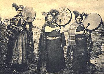 Machis mapuche, circa 1903.