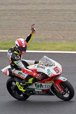 Marco Simoncelli - Simoncelli at the 2008 Japanese Grand Prix at Motegi