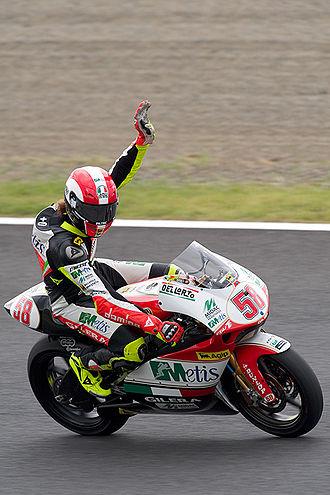 Marco Simoncelli - Simoncelli at the 2008 Japanese Grand Prix at Motegi