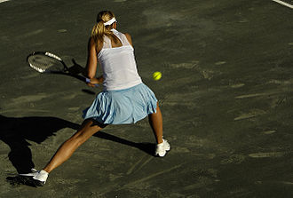 Clay court - Maria Sharapova during the 2008 Family Circle Cup played on green clay