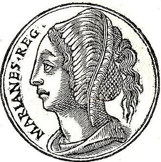 """Mariamne I - Mariamne I from """"Promptuarii Iconum Insigniorum """""""