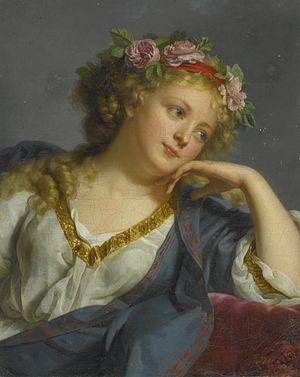 Marie Bouliard - Image: Marie Geneviève Bouliar Tête de Femme couronnée de roses 1791 529N09461 8ST7M