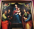 Mariotto albertinelli, madonna col bambino, santi e donatore, 1514, da s. michele a volognano (rignano sull'arno) 02.JPG