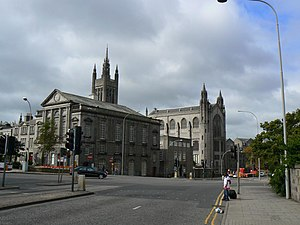 Marischal College - Marischal College from the rear, showing Mitchell Tower and Mitchell Hall