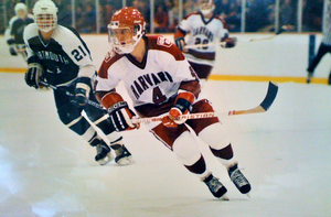Mark Benning - Image: Mark Benning, playing ice hockey at Harvard