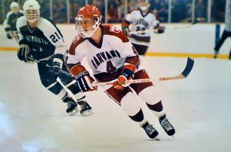 Mark Benning - Image: Mark Benning, playing ice hockey at Harvard