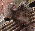 Marmoutier, Romanesque ram gargoyle.jpg