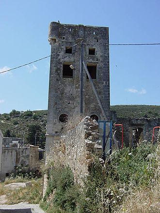 Maroulas - One of the two towers of Maroula