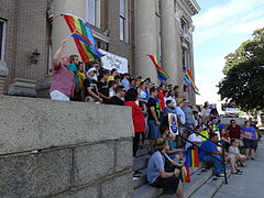 Marriage Equality Celebration, Lowndes County Courthouse 16.JPG