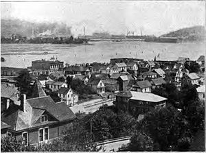 Coos Bay, Oregon - Marshfield from Wireless Hill circa 1920