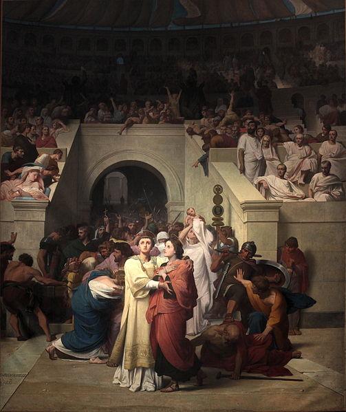 File:Martyrs Chretiens entrant a l amphitheatre-Leon Benouville-IMG 8296.JPG