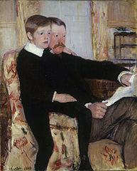 Portrait of Alexander J. Cassatt and His Son, Robert Kelso Cassatt