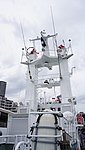 Mast of JCG Fudo(PC-55) right rear low-angle view at Kobe Port Terminal June 1, 2013.jpg
