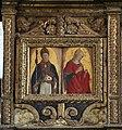Matera, san francesco, interno, organo settecentesco con cantoria che ingloba pannelli di lazzaro bastiani, 02.jpg