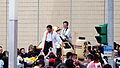Mayor Ko Wen-je and Katsuhito Noshi Stand on Mikoshi of Kitakotojin Daimikoshi Team 20151101.jpg