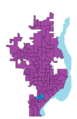 Mayor peoria precincts map 2009 outlined.png