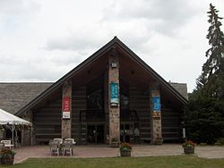 The McMichael Canadian Art Collection gallery entrance