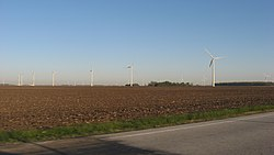 Part of the Meadow Lake Wind Farm in the township