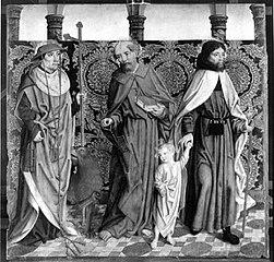 Beschneidungsaltar: Die hll. Hieronymus, Petrus und Joseph