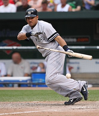 Melky Cabrera - Cabrera bunting for the New York Yankees in 2007