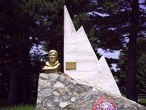 "Dimitar Ilievski-Murato - Memorial of Dimitar Ilievski - Murato on Pelister near the dormitory ""Kopanki""."