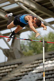 Decathlon Athletic track and field competition consisting of ten events