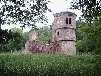 Kraichgau - Ruins of the water castle in Kraichtal-Menzingen
