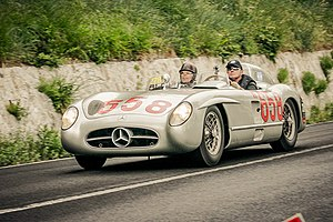 1955 Mille Miglia - Fangio's Mercedes-Benz 300SLR on the 2012 Mille Miglia