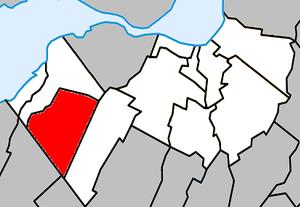 Mercier, Quebec - Image: Mercier Quebec location diagram