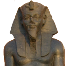 Statue of Merenptah on display at the موزه مصر.