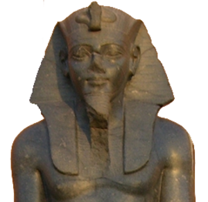 Merneptah - Statue of Merenptah on display at the Egyptian Museum.