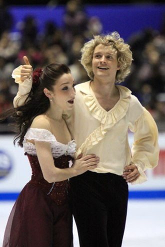 Charlie White (figure skater) - Davis and White after performing their free dance to The Phantom of the Opera at the 2009-2010 Grand Prix Final.