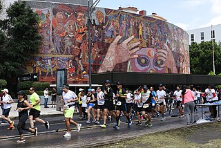 marathon running race held in Mexico City, mexico
