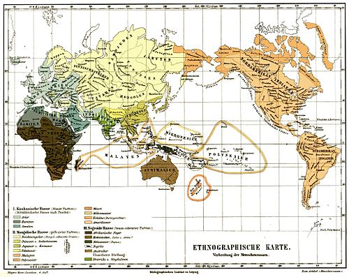 Ethnographic map of the world, from the 4th edition. Meyers map.jpg