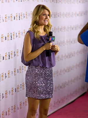 CFTO-DT - Michelle Dubé doing a report during the 2012 Toronto International Film Festival.