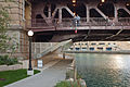 Michigan Avenue Bridge riverwalk 20101009.jpg