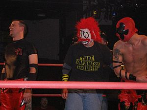 King of Trios - (From left to right) Mike Quackenbush, Shane Storm and Jigsaw, the 2007 King of Trios