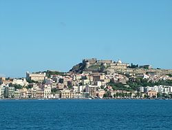"View of the Castle, Old Cathedral, Ancient ""Borgo"", and part of waterfront of the city center."