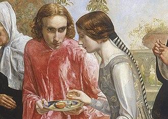 Isabella (Millais painting) - Image: Millais Isabella detail 2